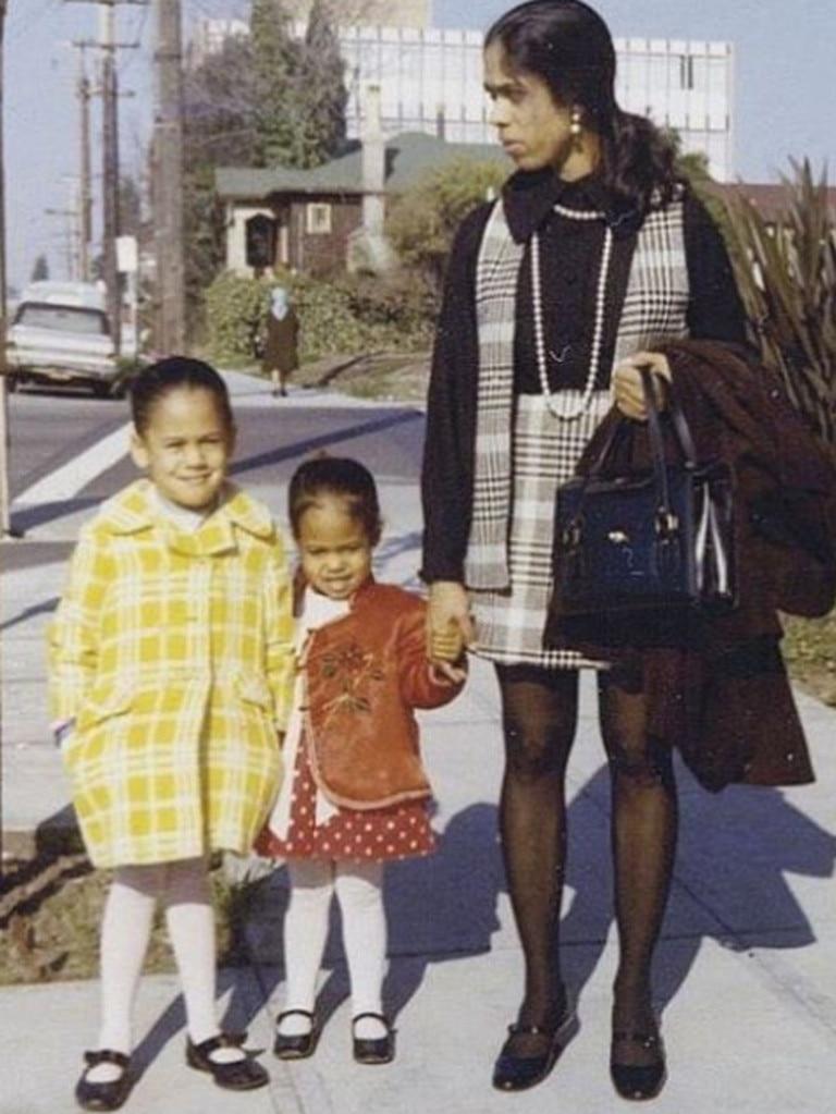 (L-R) Kamala, Maya and their mother Shyamala Gopalan. Picture: Instagram