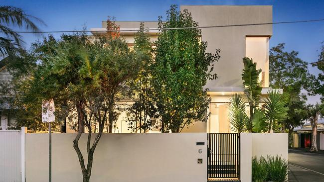 """<a href=""""https://www.realestate.com.au/property-townhouse-vic-south+yarra-126120818"""">6 Peter St, South Yarra</a>, is heading under the hammer."""