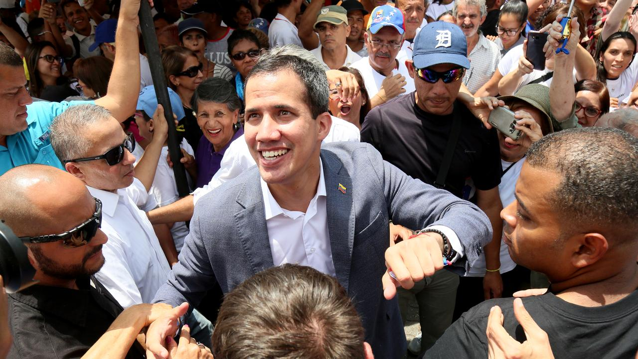 Opposition Leader Juan Guaido called on the Venezuelan people to turn out onto the streets in an attempt to oust Mr Maduro.