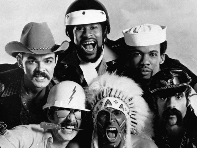 The OGVP: Village People (clockwise from top) Randy Jones, Victor Willis, Alex Briley, Glenn Hughes, Felipe Rose & David Hodo. Picture: Supplied