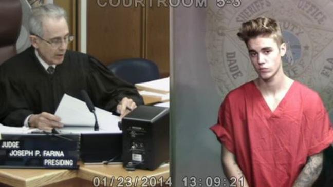 Bieber urine test released