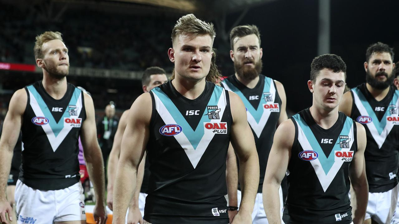 Port Adelaide will be hoping Ollie Wines has a quick and perfect recovery. Picture: Sarah Reed