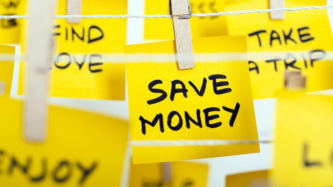 Saving more money is one of many people's top resolutions for 2018. Picture: Supplied