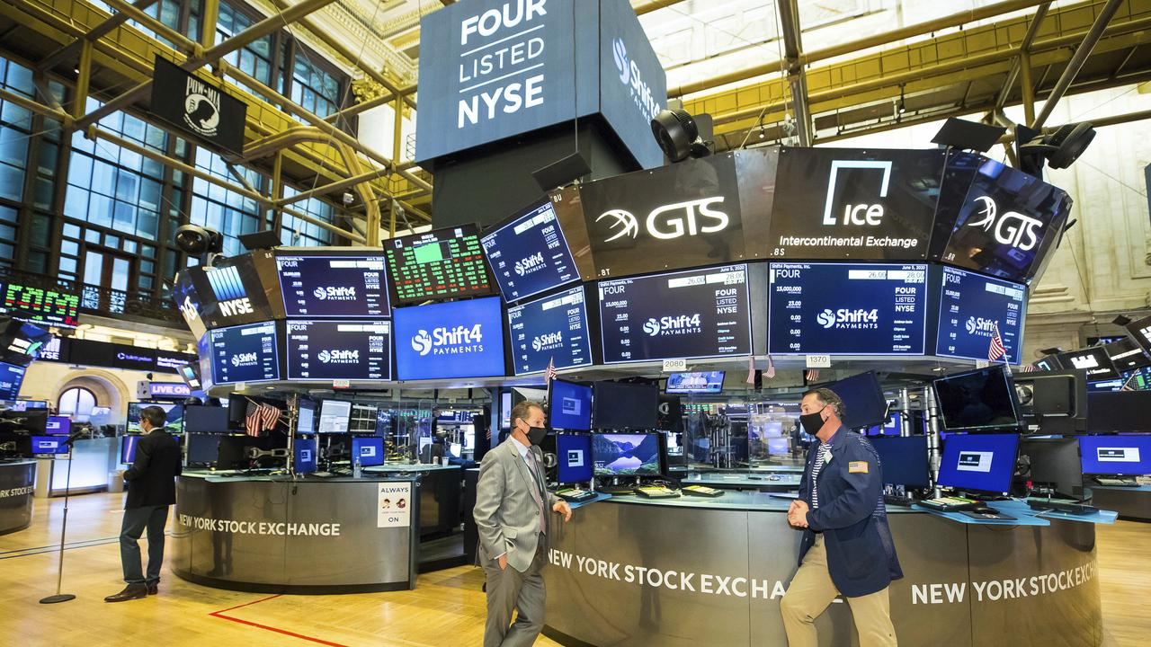 The partially reopened New York Stock Exchange trading floor. Picture: New York Stock Exchange via AP