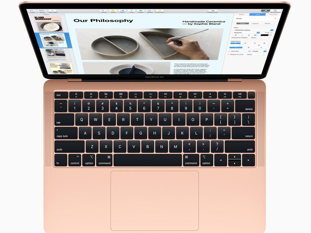 Apple's new 13-inch MacBook Air notebook features a Retina screen and redesigned keyboard.