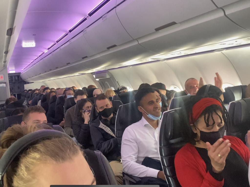 The flight was full on the first day of the travel bubble between Sydney and Wellington. Picture: Vanessa Brown/news.com.au