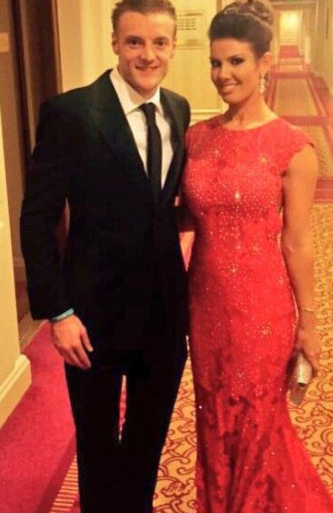 Jamie and Rebekah Vardy.