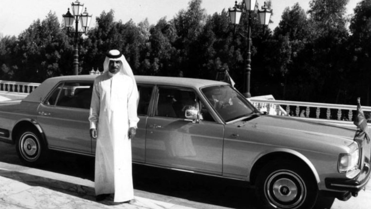 The Prince with a custom-built six door Rolls in 1984.