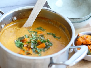 Thai pumpkin soup. Image: Supplied.