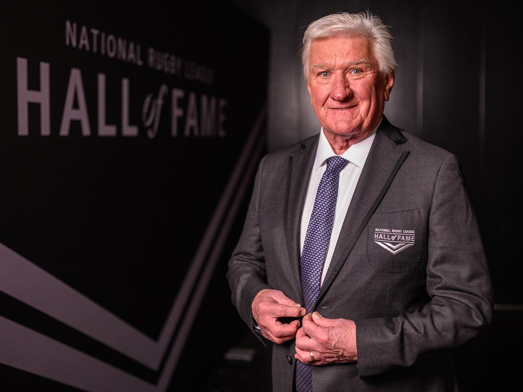 Ray Warren after being inducted into the NRL Hall of Fame.