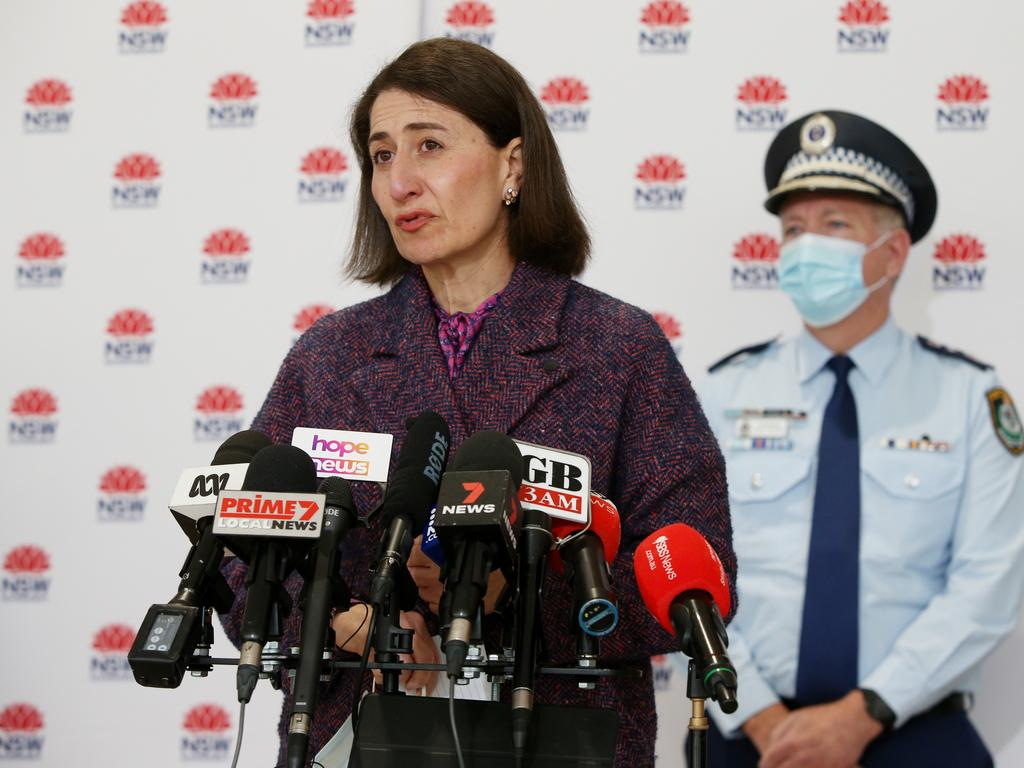 Police have been given more authority to enforce public health orders with the help of the Australian Defence Force as Greater Sydney enters an extended lockdown. Picture: Lisa Maree Williams Pool/Getty Images