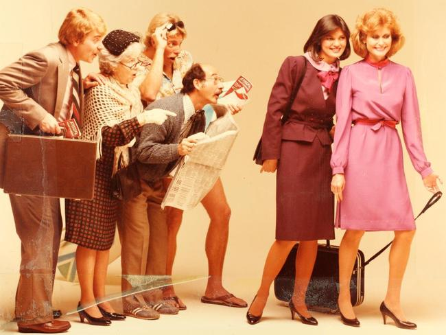 Being ogled by men was just a part of the job as a stewardess. Photo: San Diego Air & Space Museum
