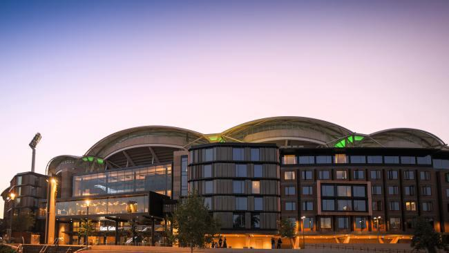 8/9 Oval Hotel Sports fans will adore this hotel which wraps around the Adelaide Oval's eastern façade but even if you don't enjoy watching people in tiny shorts doing things with their bodies you never will, there's something here for everyone. The 138 room have stunning parkland views, there are four restaurants to choose from and you score welcome drinks on arrival. The smart play is to stay here on game day or the evening of on the rock concerts held at the venue.