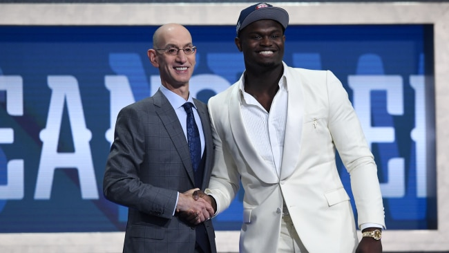 Zion Williamson was snapped up by the Pelicans. Picture: Getty Images