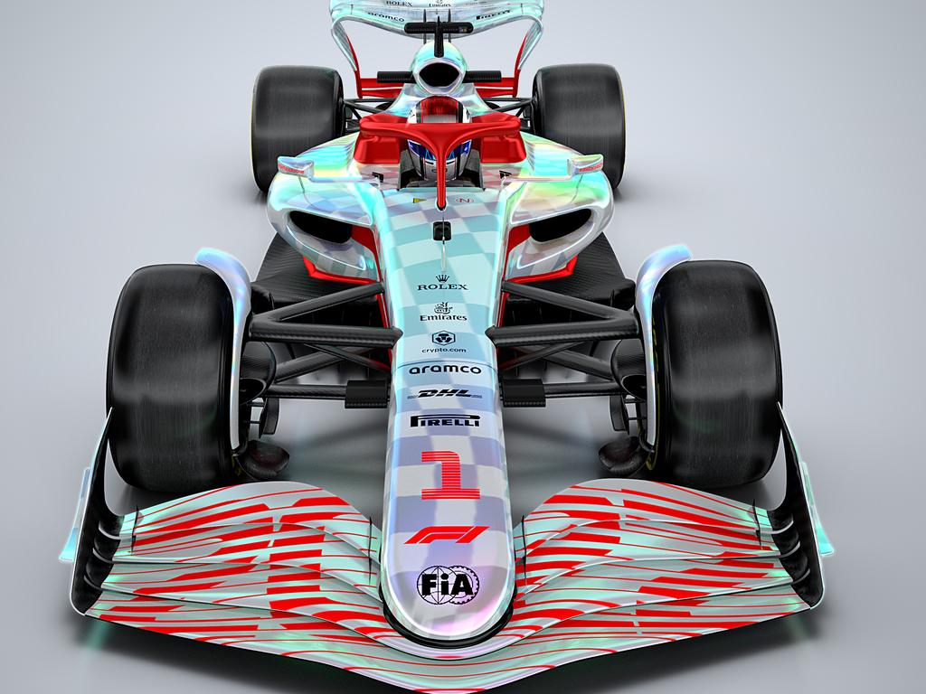Official images released by Formula 1 during the unveiling of the 2022 car. Photo: 2021 Formula One World Championship Limited
