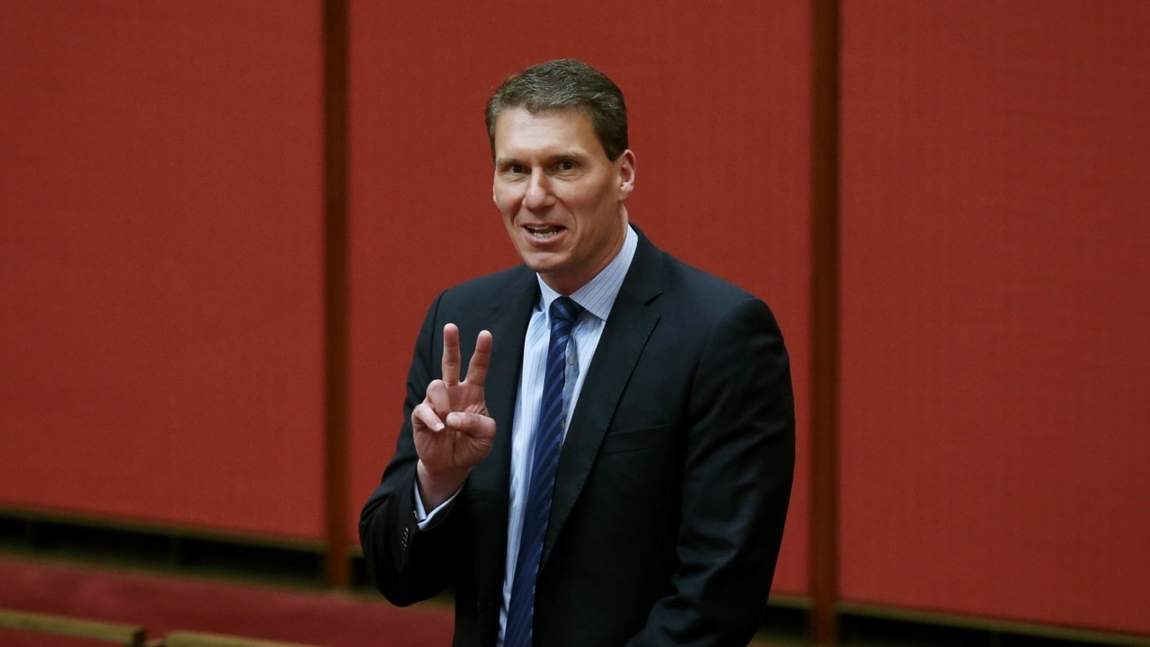 Cory Bernardi leaving parliament 'completely at peace' with himself