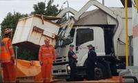 Boy dies after garbage truck picks up bin he's sleeping in