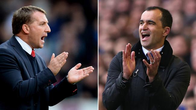 Brendan Rodgers and Roberto Martinez go head-to-head in the Merseyside derby.