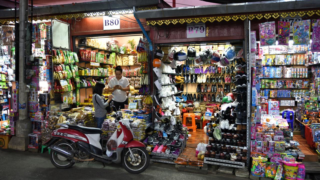 The vibrant Dao Wow market. Picture: Ronan O'Connell