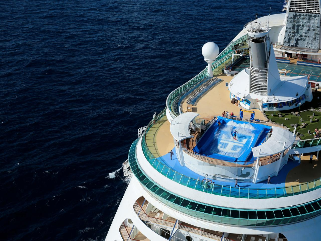 ESCAPE: Royal Caribbean cruise ship Explorer of the Seas. FlowRider. Picture: Royal Carribean