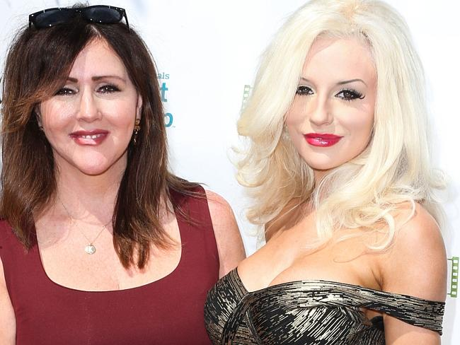 Courtney Stodden (at right) with her mother, Krista Keller.