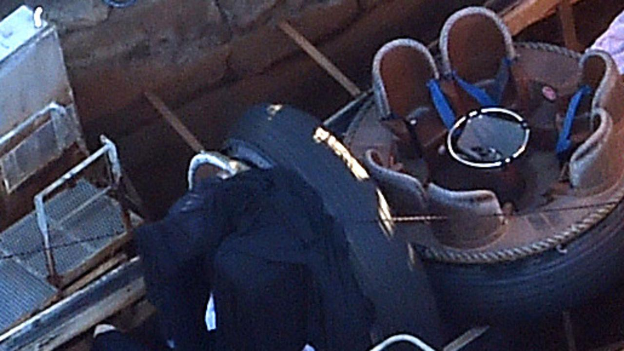 Authorities investigating the tragedy on Dreamworld's Thunder River Rapids ride. Picture: Dan Peled