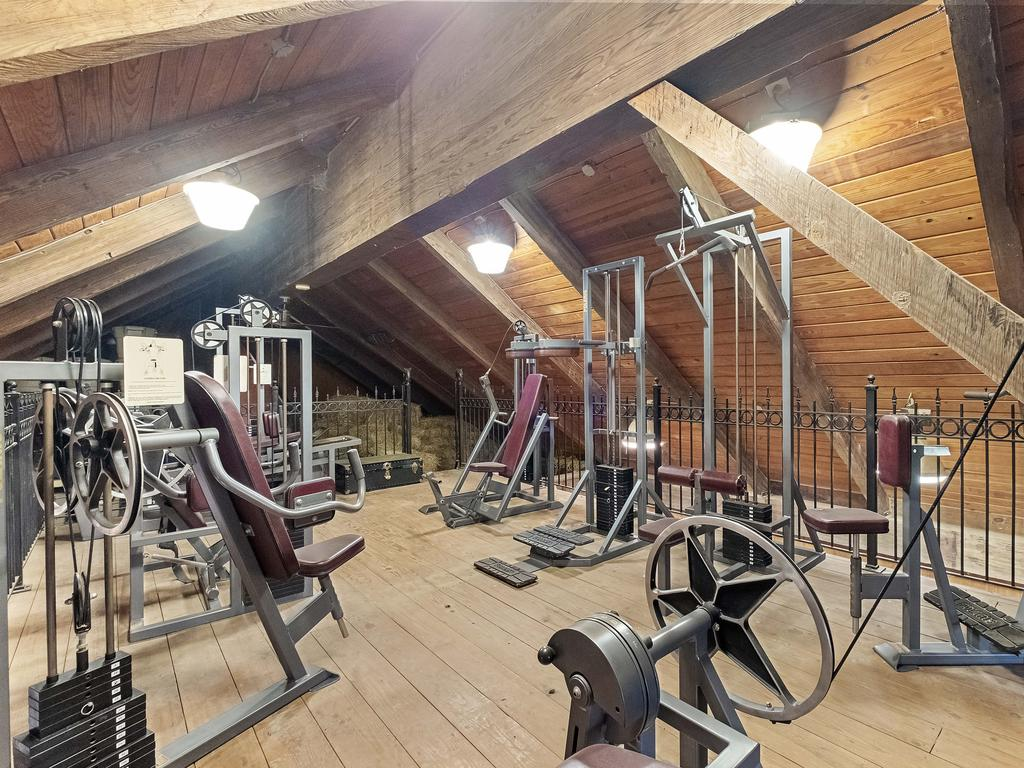 One of the home's two gyms. Picture: Richard Taverna for Sotheby's International Realty