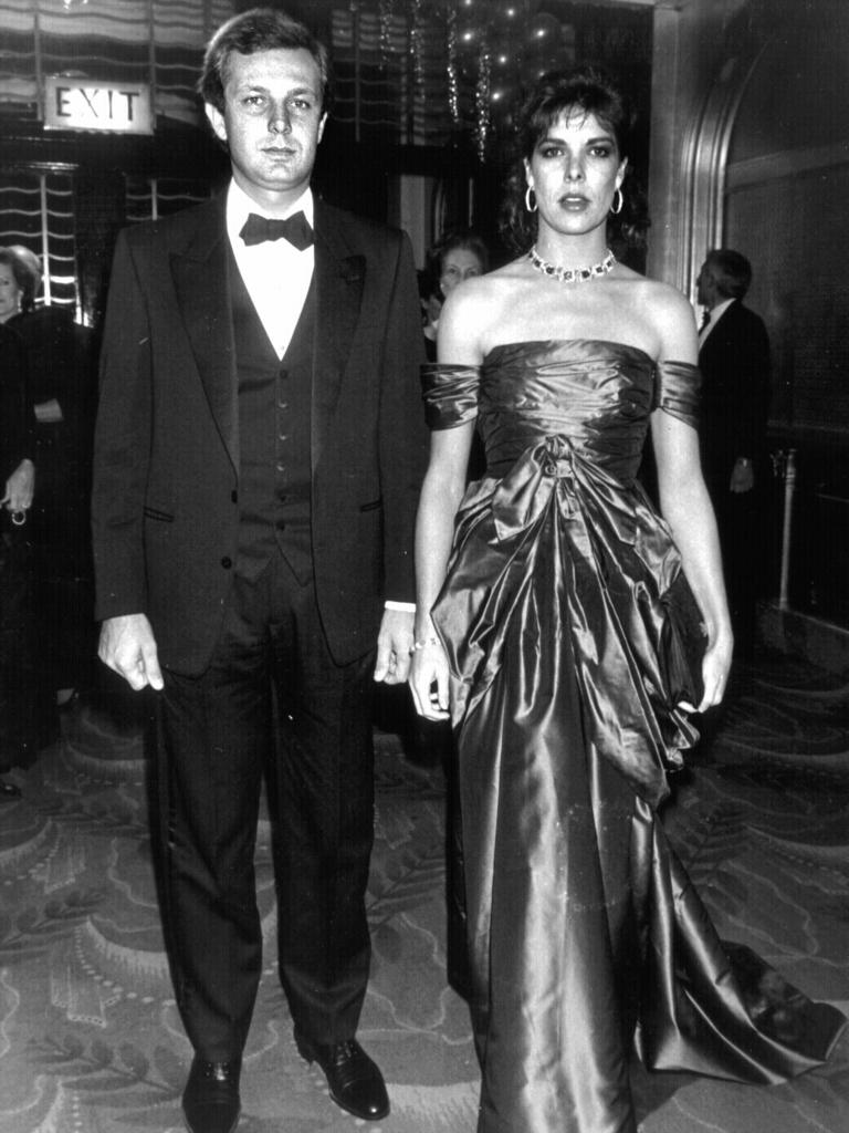 Princess Caroline of Monaco with husband Stefano Casiraghi. He later died in a speed boat crash in 1990.