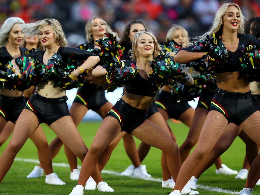 Natalie Sinclair argues that removing cheerleaders works against the rights of women. Picture: Gregg Porteous