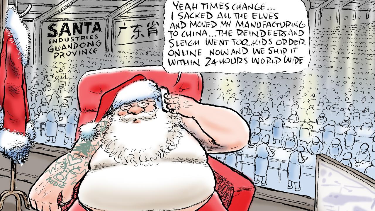 Part of Mark Knight's Christmas cartoon.