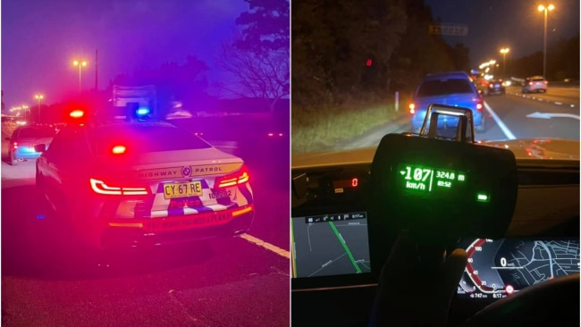 The man was travelling at 107kph (80kph zone). Picture: Traffic and Highway Patrol Command - NSW Police Force
