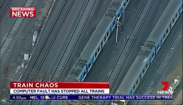 Computer glitch halts all Melbourne metro trains