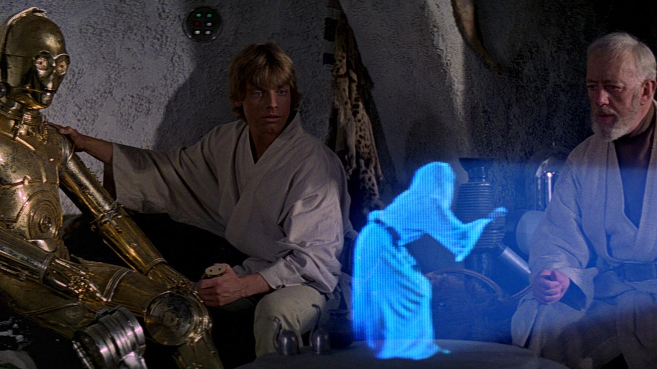 Some of the most famous holograms are in the Star Wars series of movies. This scene is from Star Wars Episode III.