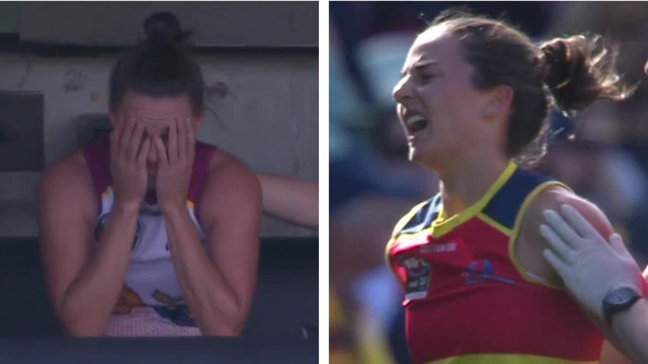 Ange Foley and Emma Zielke suffered injuries.