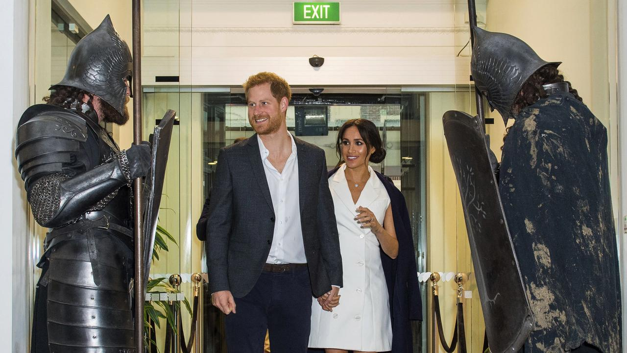 Just your standard royal greeting. Picture: Dominic Lipinski/Pool Photo via AP
