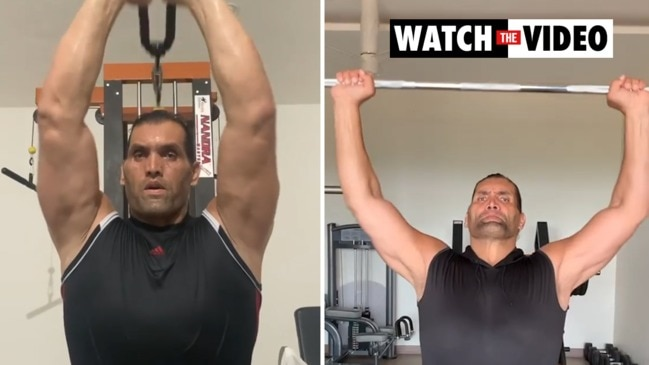 WWE legend Khali shows off shredded new physique