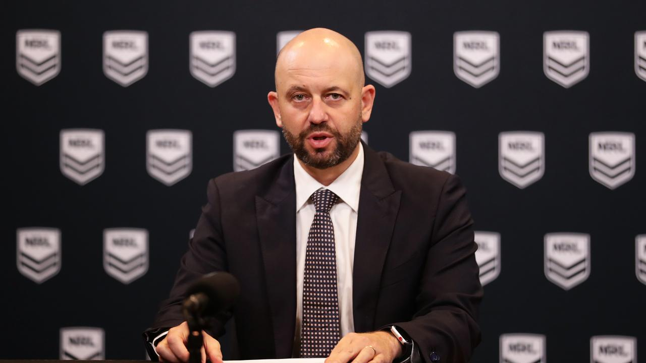 NRL CEO Todd Greenberg was 'forced' to take a significant pay cut after player like Joey Leilua took a stand. Picture: Matt King/Getty Images
