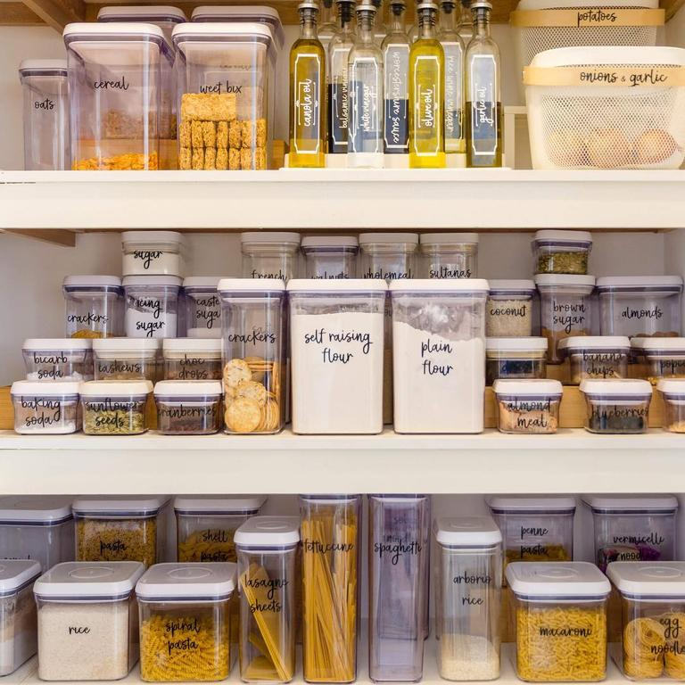 It was easy to convert the machine to create custom labels for her pantry. Picture: Supplied