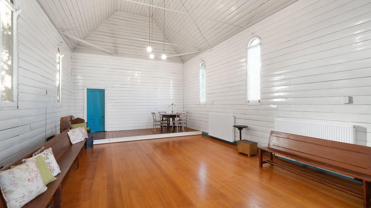 The Sunday school's interiors.