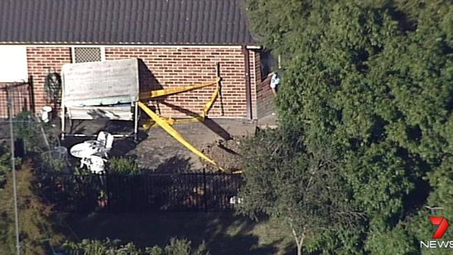 A 91-year-old man was found dead in a trench in his backyard. Picture: Seven News