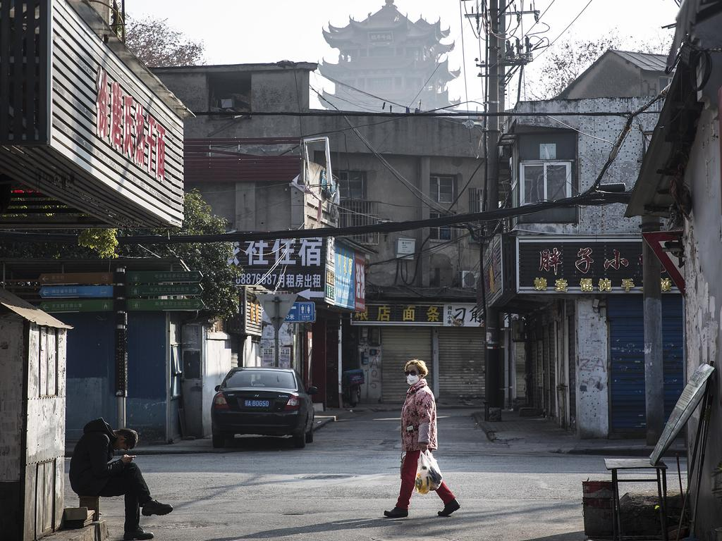 The streets of Wuhan are all but deserted. Picture: Stringer/Getty Images