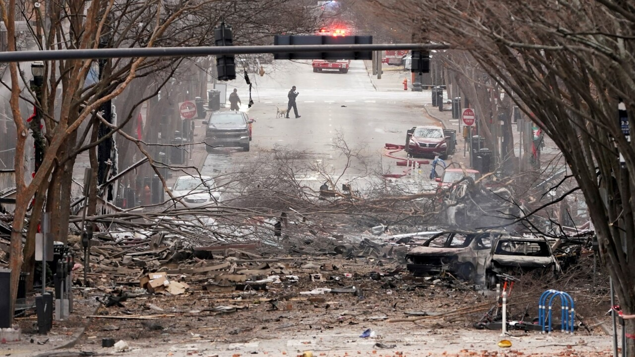 Motor home involved in Nashville blast identified in the suspect's driveway