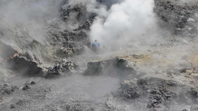 Pisciarelli fumaroles and mud pools bubble away at the Campi Flegrei caldera, a super volcano, near Naples. Picture: Carmine Minopoli