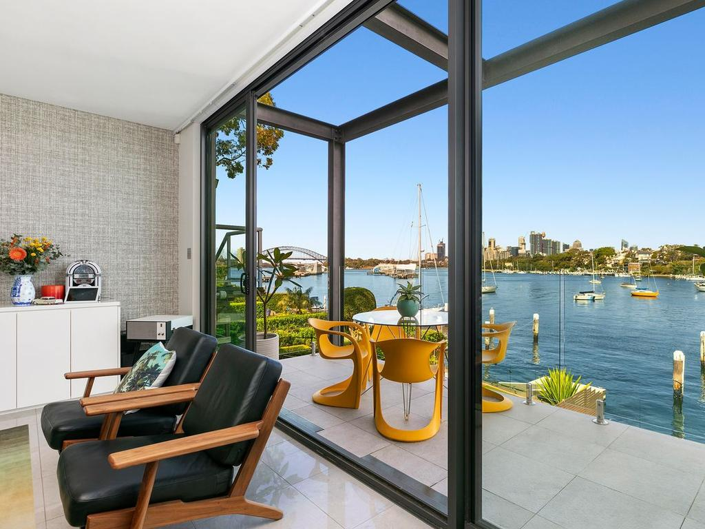 Ms Barber sold this waterfront home in Birchgrove last year.