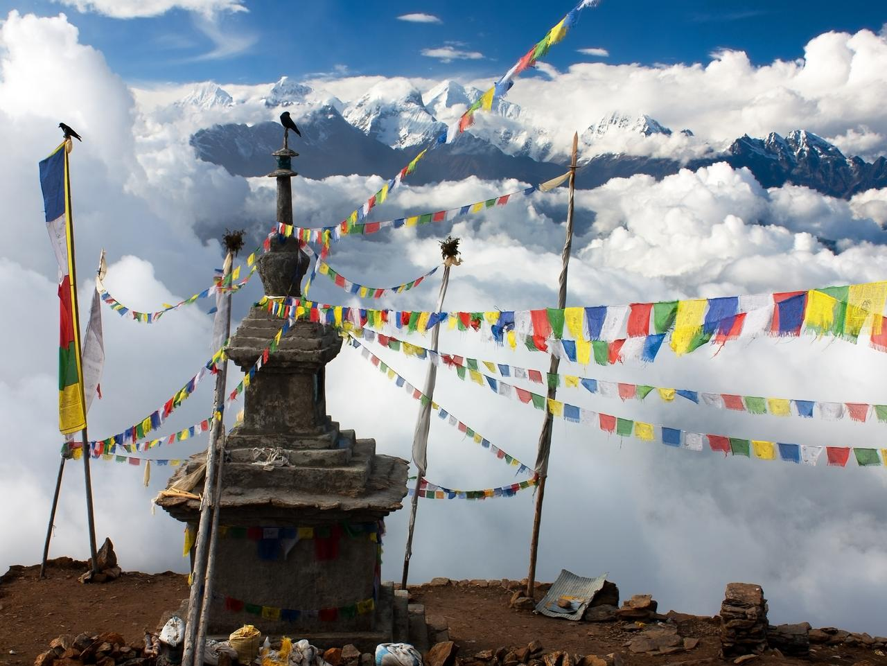 The Himalayas are intensely spiritual, with Buddhist monuments everywhere.
