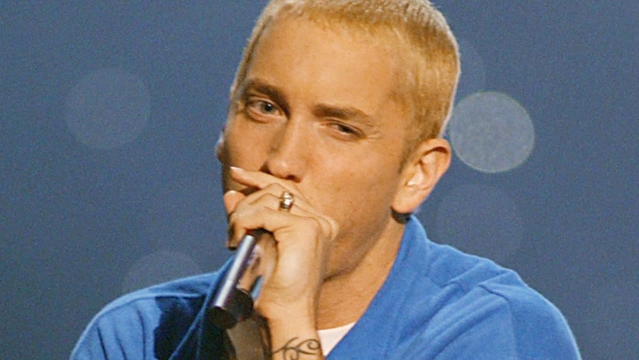 Eminem at the 2002 MTV Movie Awards. Picture: Kevin Winter/ImageDirect
