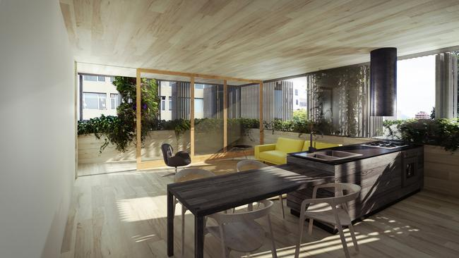 The interior of one of the proposed apartments.