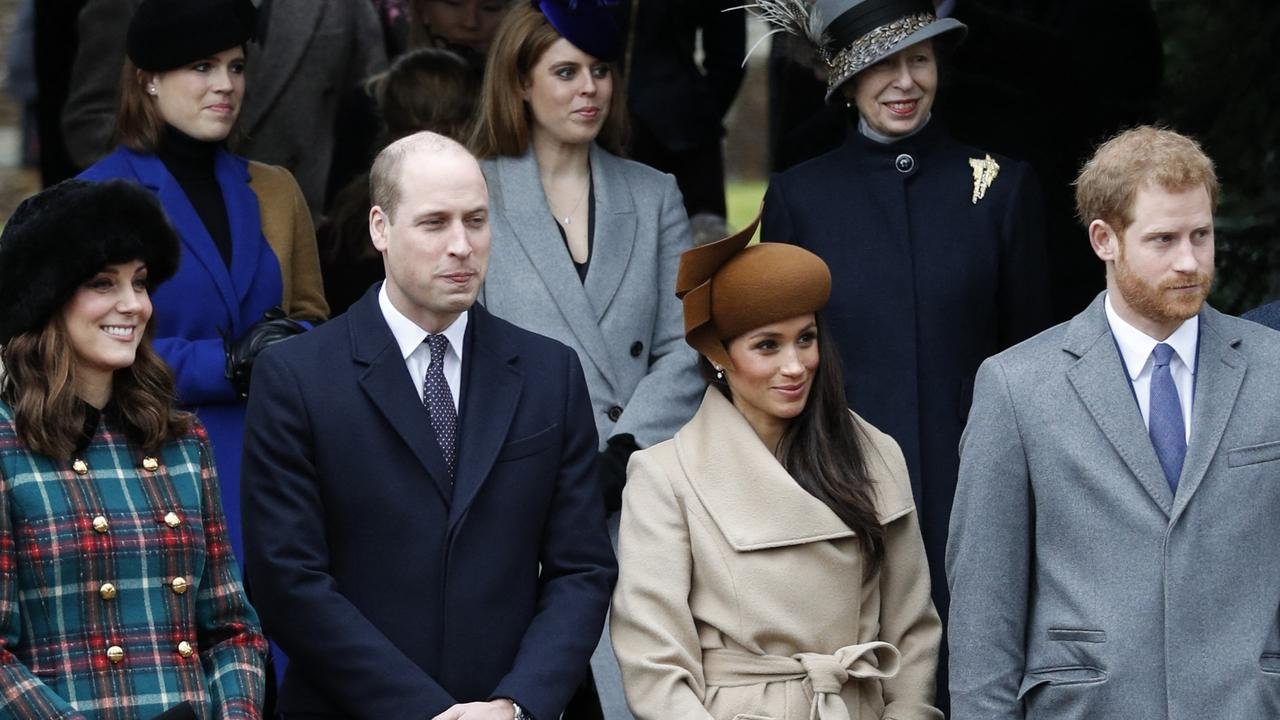 It will be the first time Meghan comes face-to-face with William and Kate in the wake of her explosive Oprah interview. Picture: Adrian Dennis/AFP