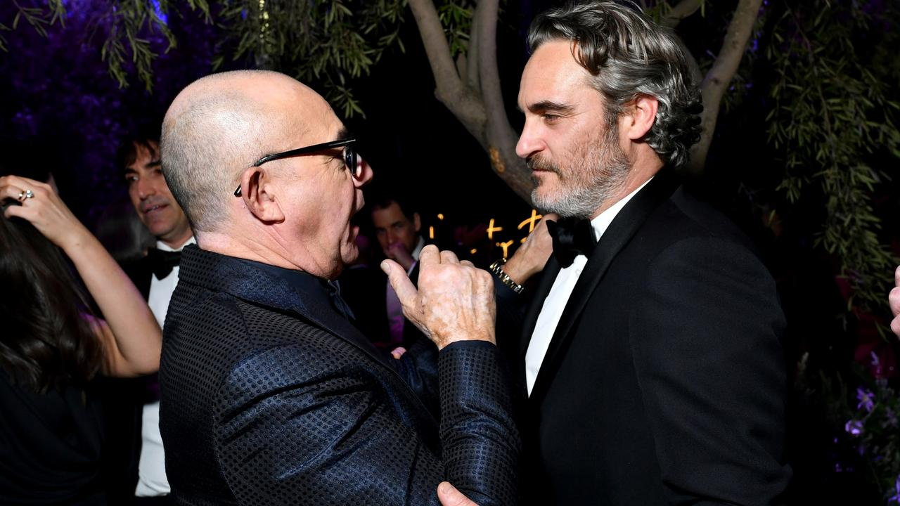 Bernie Taupin and Joaquin Phoenix. Picture: Emma McIntyre /VF20/WireImage