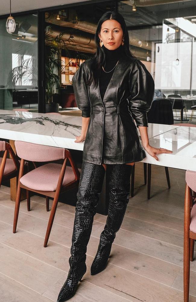 'We love a good cardigan moment.' Revolve chief brand officer Raissa Gerona. Picture: Revolve